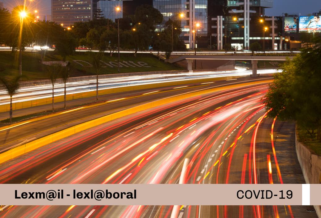 Protocolo Sanitario Sectorial para la prevención del COVID-19 en los contratos de ejecución de obras y servicios de la red vial