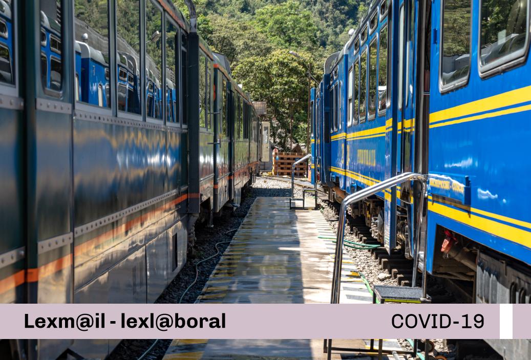 Protocolo Sanitario sectorial para la prevención del COVID-19 para metros y ferrocarriles