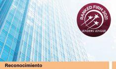 Nuevamente nuestras prácticas en Derecho de la Competencia han sido reconocidas por Leaders League
